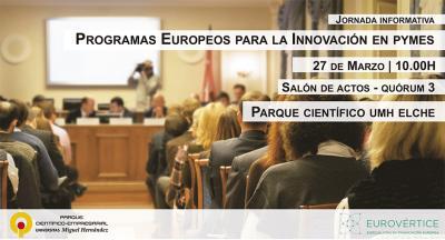 Jornada informativa en Elche sobre proyectos europeos para la innovación