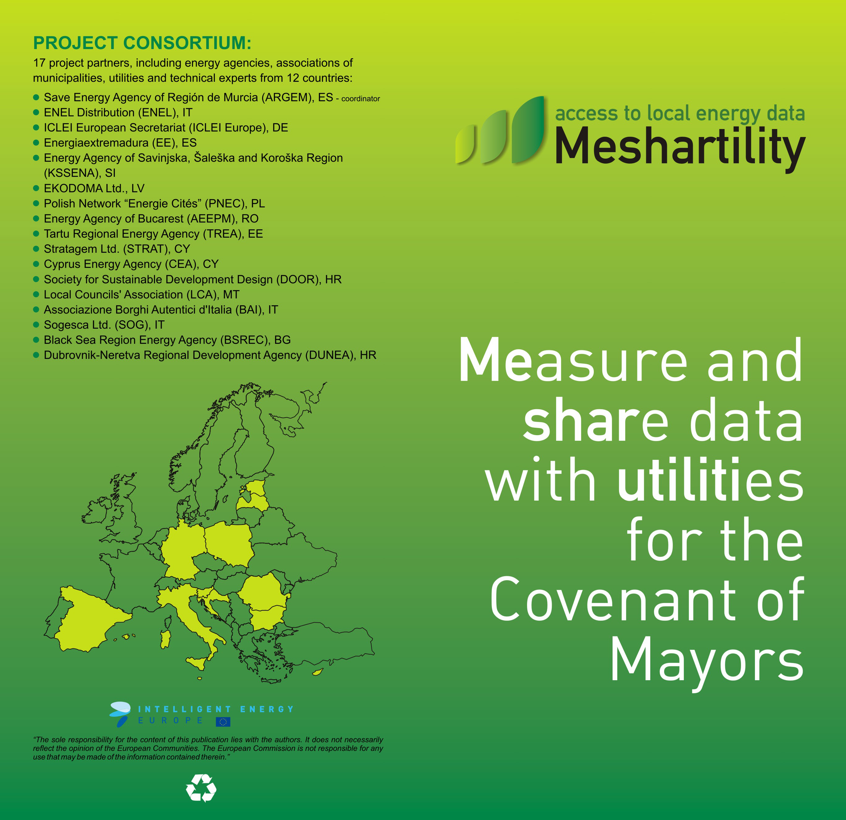 Meshartility, possibilities of funding for energy aimed at municipalities and regions